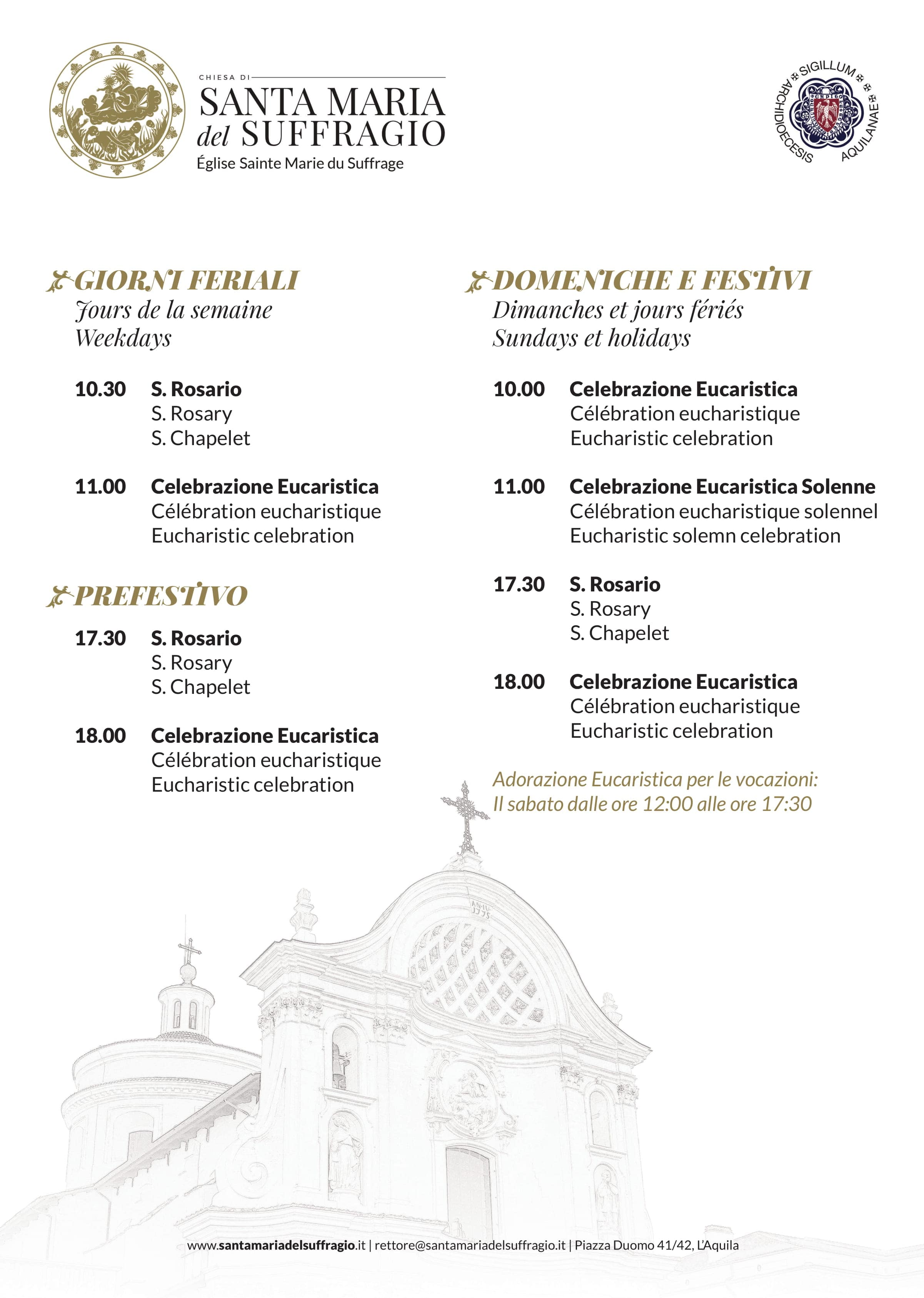 Locandina orario sante messe - 08.01.2019 - 11.11-1